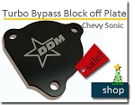Turbo Bypass Block off plate for Sonic