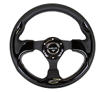 NRG Race Style Sport Steering Wheel with Black Leather Trim